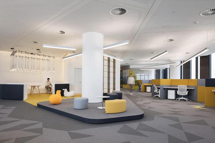 集团办公室接待区设计效果图