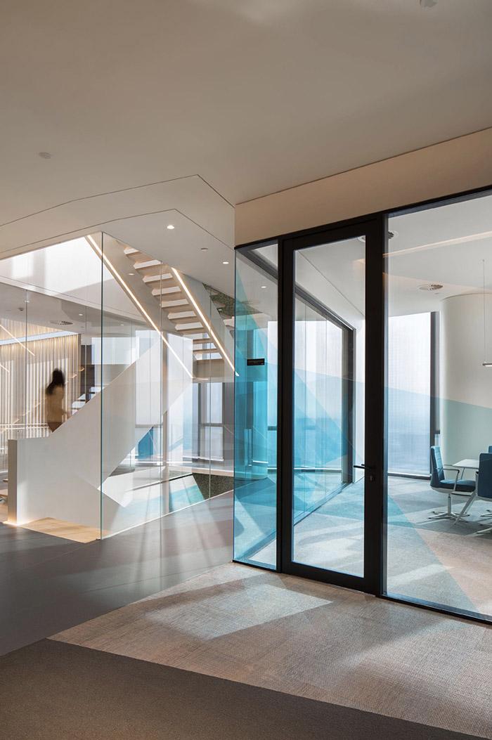 集团办公室楼梯设计效果图
