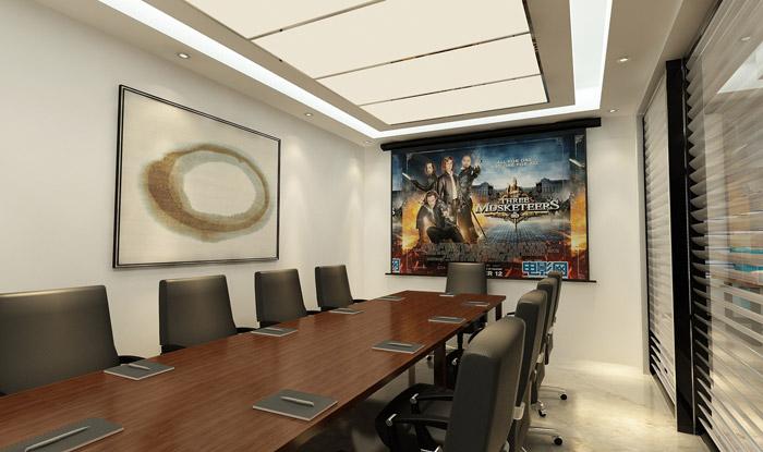 现代中式风格办公室会议室装修效果图