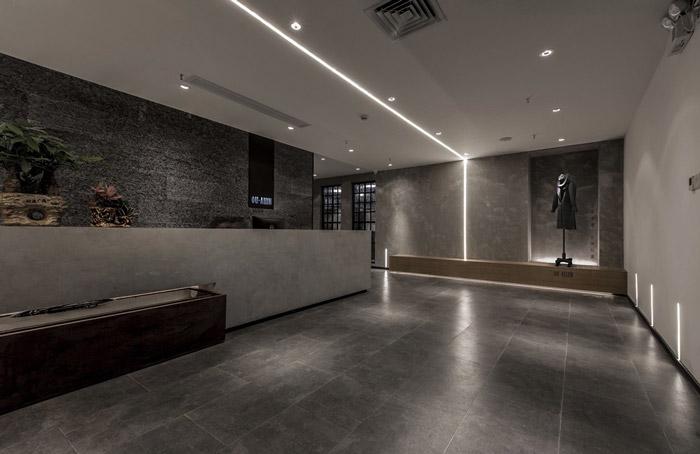 东方禅意办公室前台装修设计效果图
