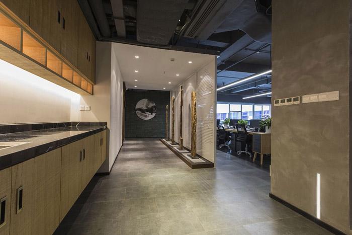东方禅意办公室茶水区装修设计效果图