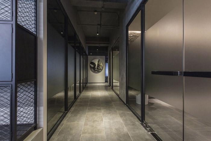 东方禅意办公室过道装修设计效果图
