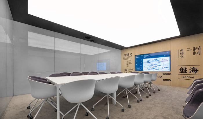 干净清爽办公室会议室装修设计效果图