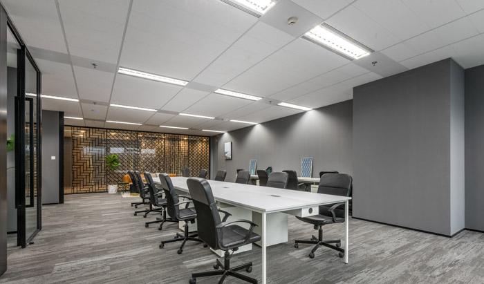 干净清爽办公室办公区装修设计效果图