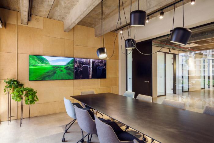 绿色办公室装修效果图