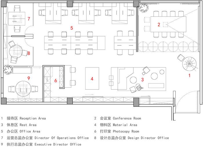 顾问公司办公室装修设计平面图