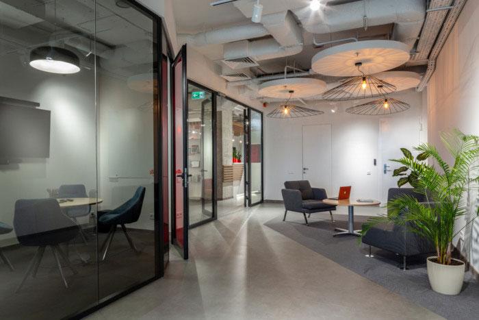 纳维亚风格办公室接待区装修设计效果图
