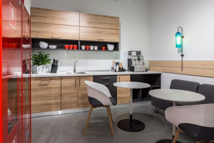 纳维亚风格办公室茶水间装修设计效果图