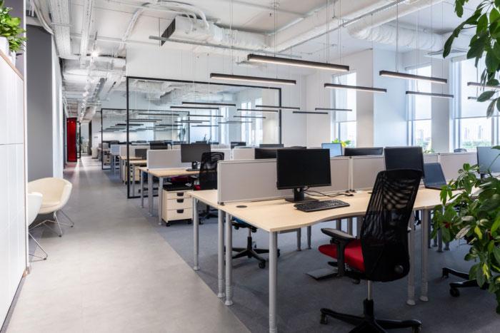 纳维亚风格办公室办公区装修设计效果图