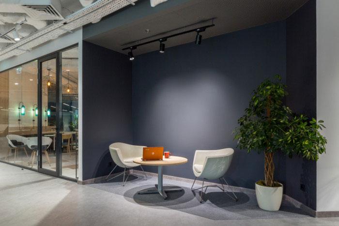 纳维亚风格办公室交流区装修设计效果图