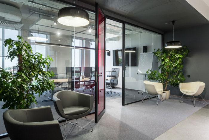纳维亚风格办公室会议室装修设计效果图