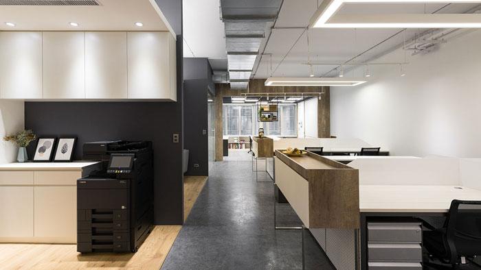 鞋业公司办公室走廊装修设计效果图