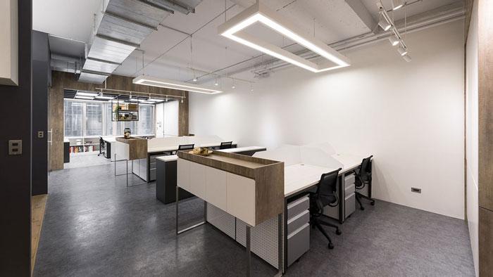鞋业公司办公室办公区装修设计效果图