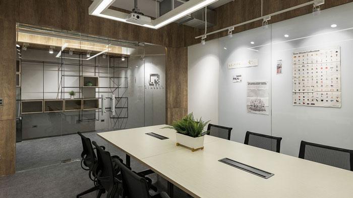 鞋业公司办公室会议室装修设计效果图