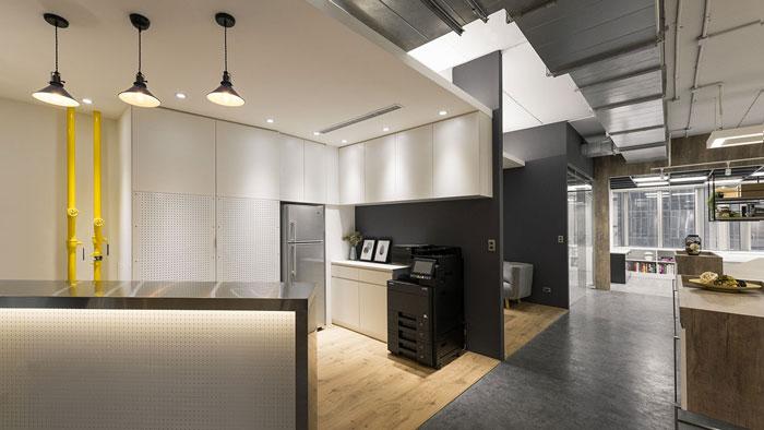 鞋业公司办公室茶水区装修设计效果图