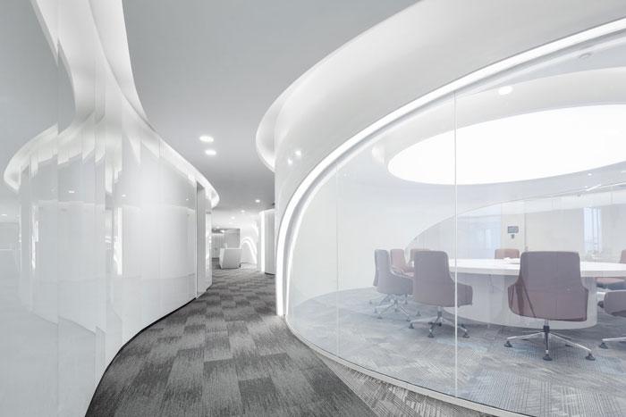 总部办公大楼会议室装修设计效果图