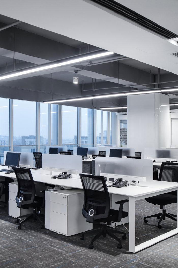总部办公大楼办公区装修设计效果图