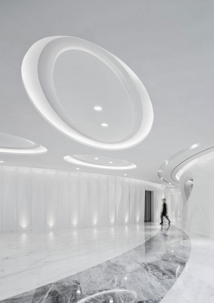 总部办公大楼大厅装修设计效果图