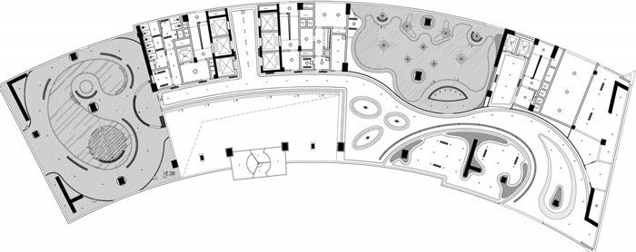 总部办公大楼装修设计平面图