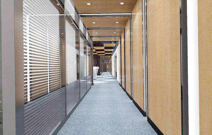 金融办公室走廊装修效果图