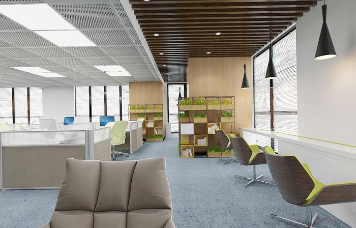 金融办公室办公区装修效果图