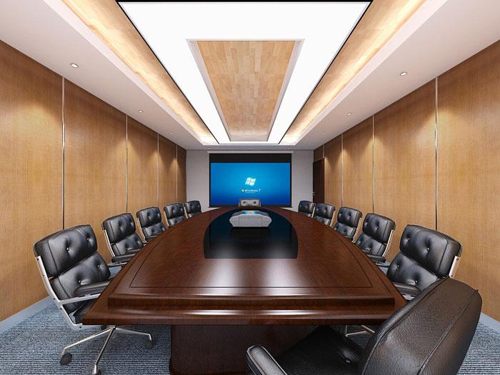 金融办公室会议室装修效果图