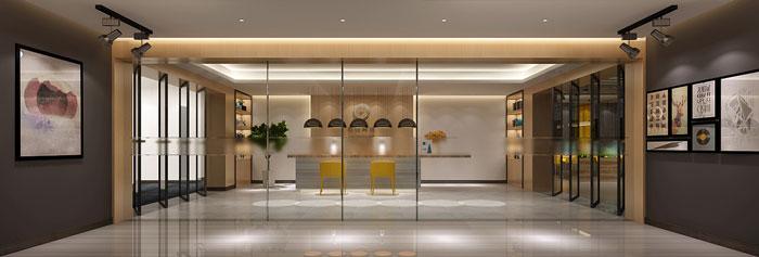 金融办公室进门区装饰设计效果图