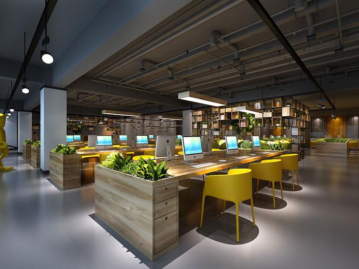 金融办公室办公区装饰设计效果图