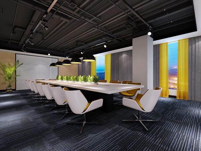 金融办公室会议室装饰设计效果图