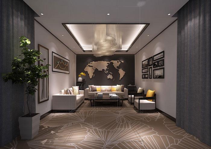 金融办公室接待室装饰设计效果图