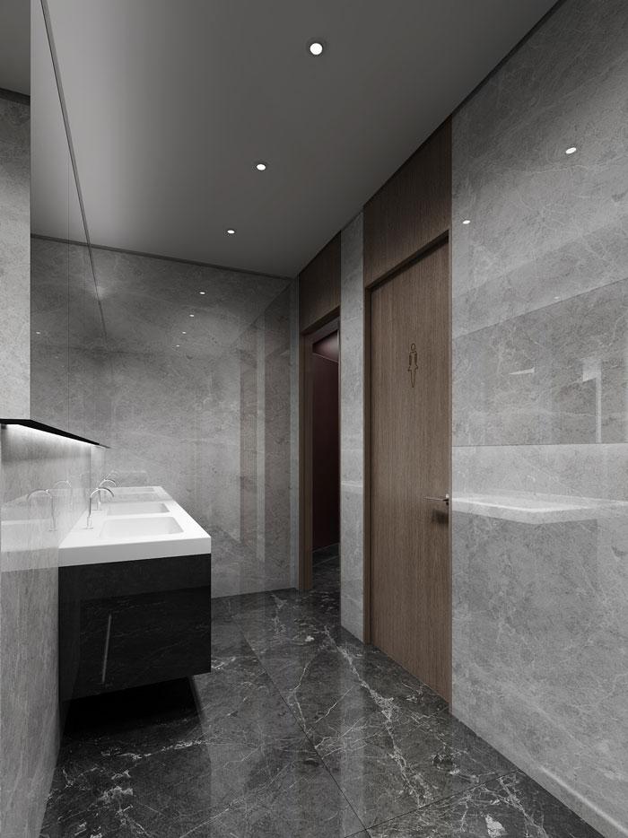 金融办公室卫生间装潢设计效果图
