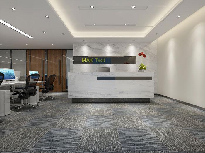 金融公司办公室前台装潢设计效果图