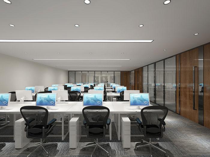 金融公司办公室办公区装潢设计效果图