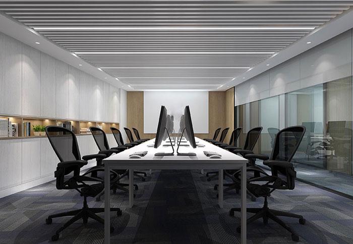 金融公司办公空间办公区装修效果图