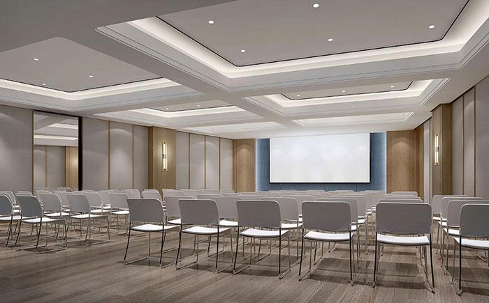 金融公司办公空间培训室装修效果图