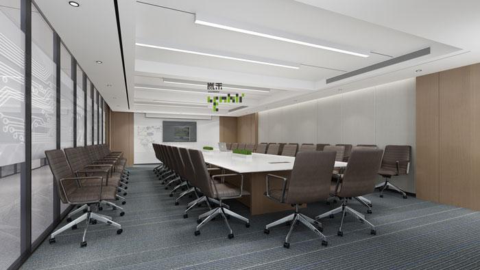 杭州鸿世电器办公楼会议室装修设计效果图