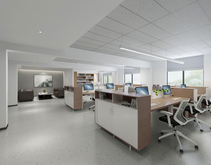杭州鸿世电器办公楼办公区装修设计效果图