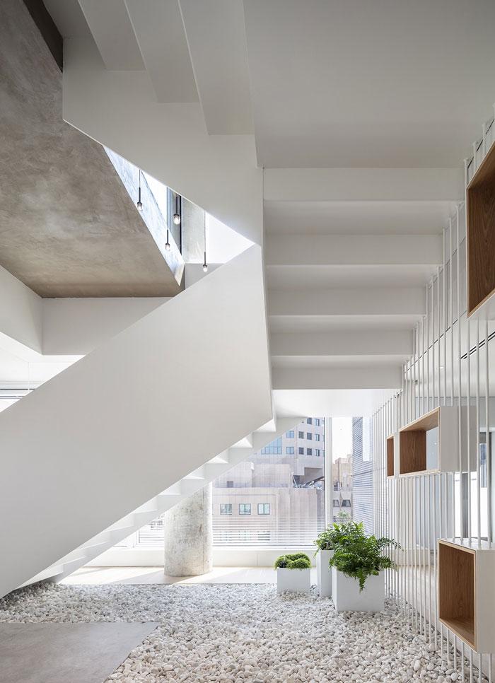 新总部办公室楼梯装修设计效果图