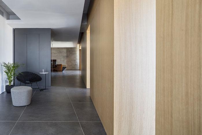 会议公司办公室走廊装修设计效果图