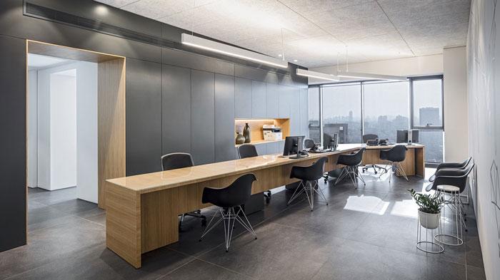 会议公司开放办公区装修设计效果图