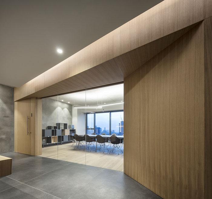 会议公司办公室过道装修设计效果图