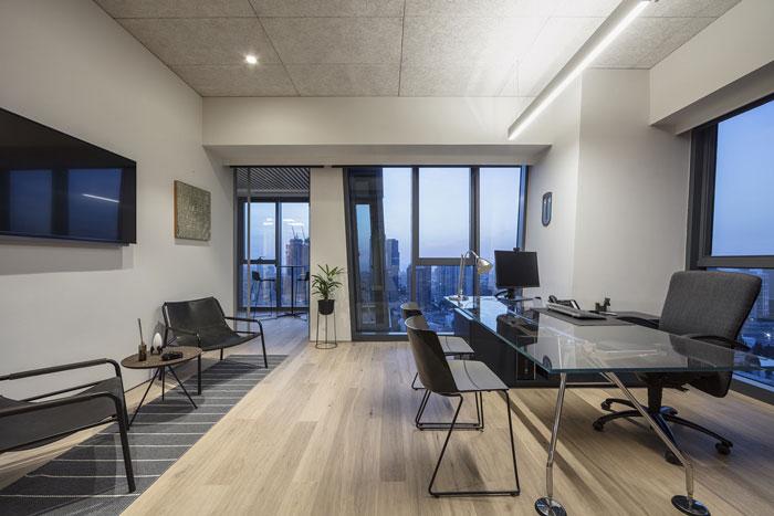 会议公司总经理办公室装修设计效果图