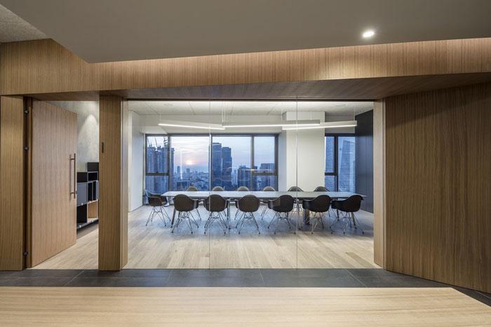会议公司会议室入口装修设计效果图