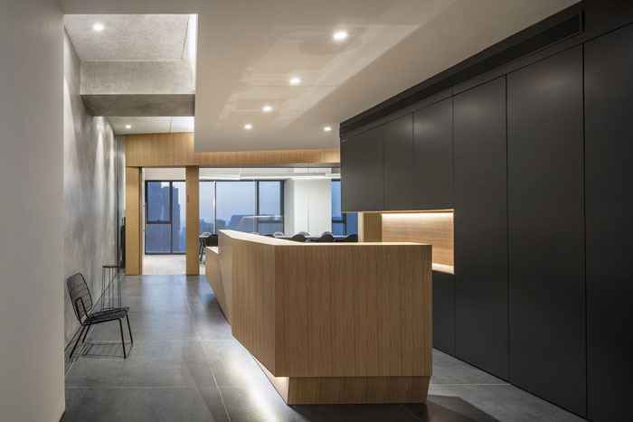 会议公司办公室前台装修设计效果图