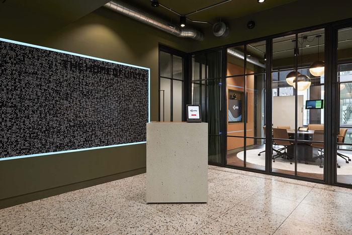 软件公司办公室前台装修效果图