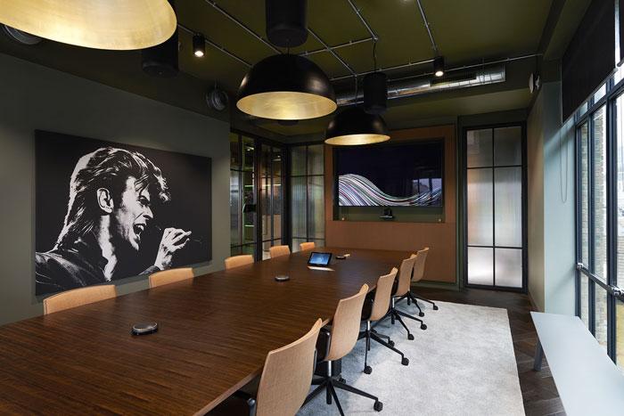 软件公司办公室会议室装修效果图