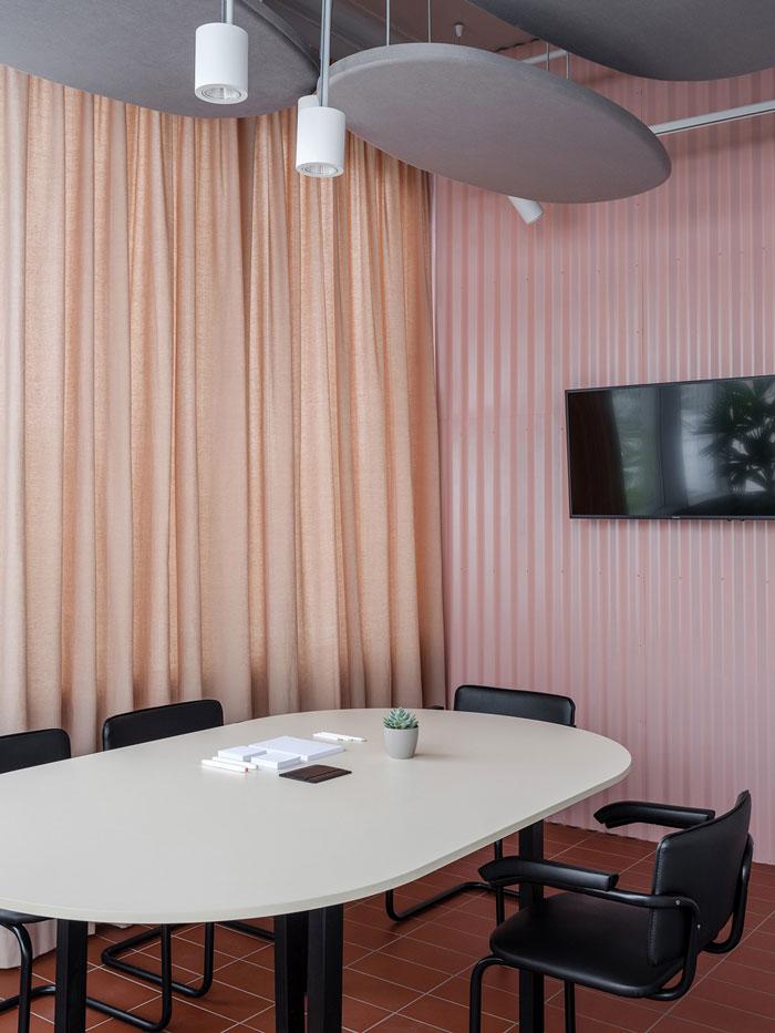 极简办公室洽谈室装修设计效果图