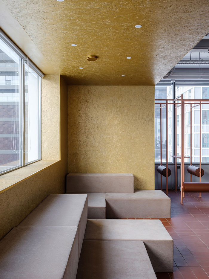 极简办公室休息区装修设计效果图