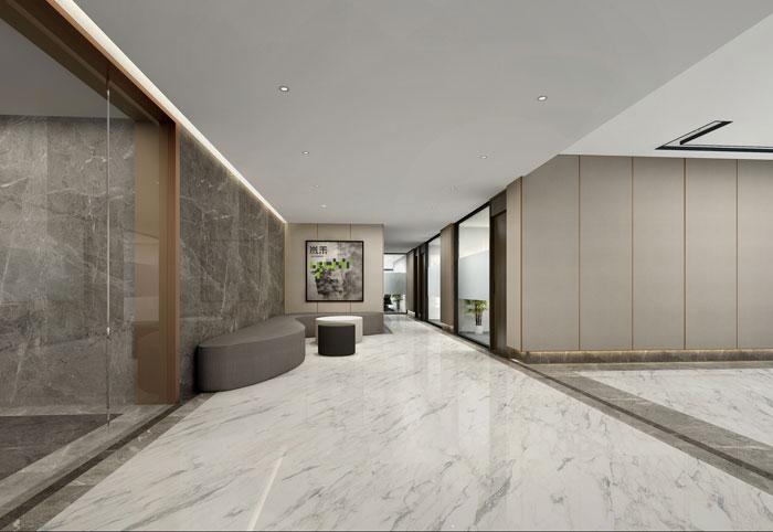 杭州控股集团办公室接待区装修设计效果图