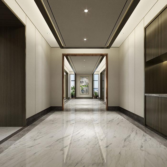 杭州控股集团办公室过道装修设计效果图